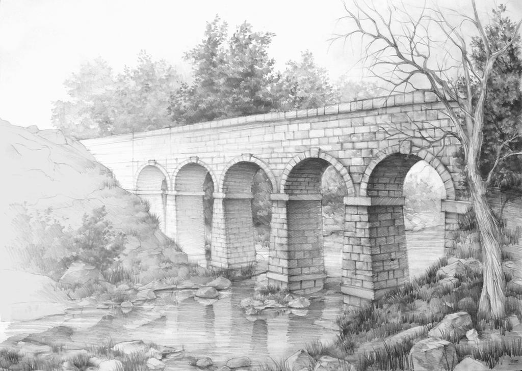 roman bridge by Kasiarzynka