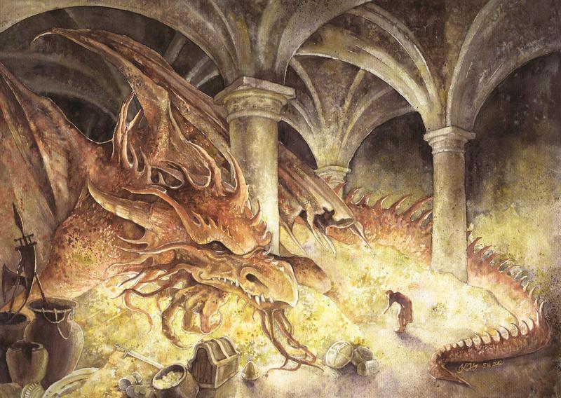 Artwork inspired by Tolkien - Page 27 Smaug_s_cave_by_katarzyna_kmiecik-d4rzjqu