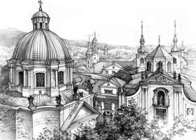 Prague Fading Into The Distance by Katarzyna-Kmiecik