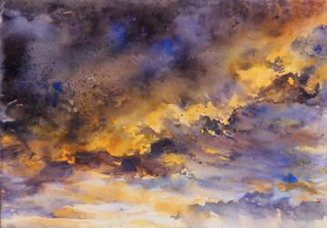 sky - watercolor practice 2 by Katarzyna-Kmiecik