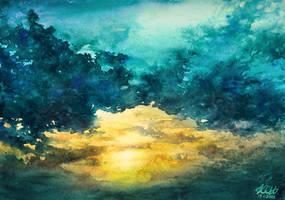 Watercolor Sky No 3