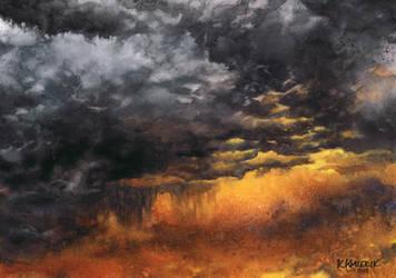 Watercolor Sky No. 6
