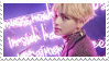 // taehyung stamp by anxi0usCactus