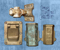 Fittings salvaged from the S.S. Angloman by CemaesMaritime