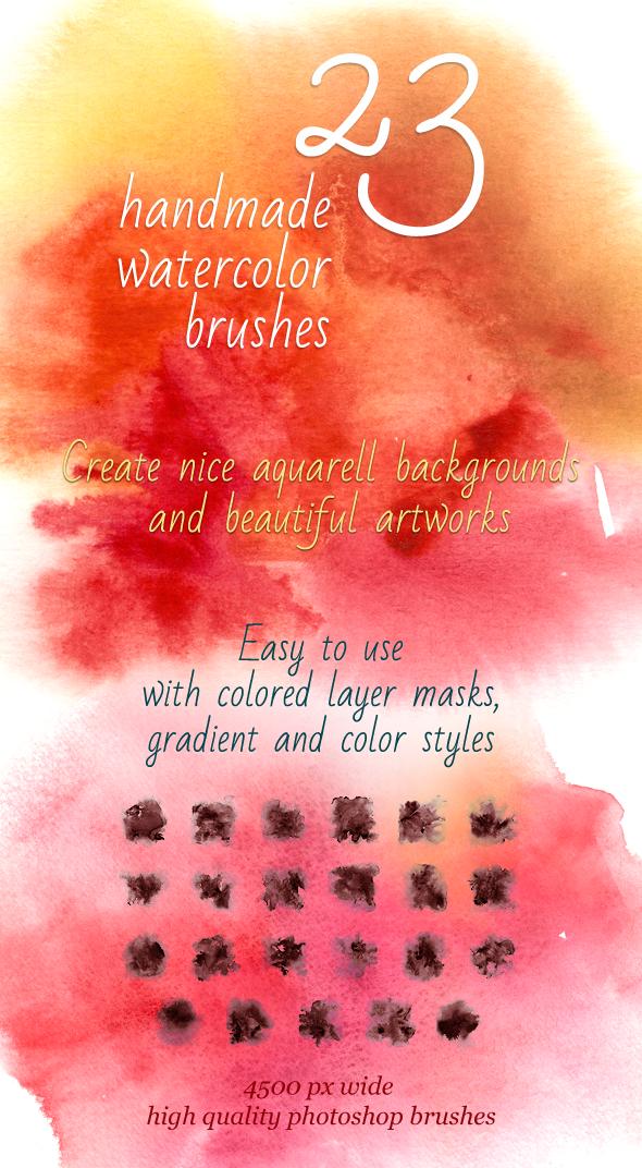 23 Handmade Watercolor Brushes by saimana