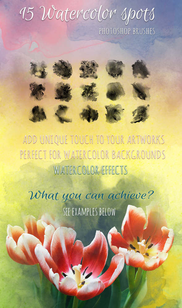 15 Watercolor Handmade Brushes by saimana