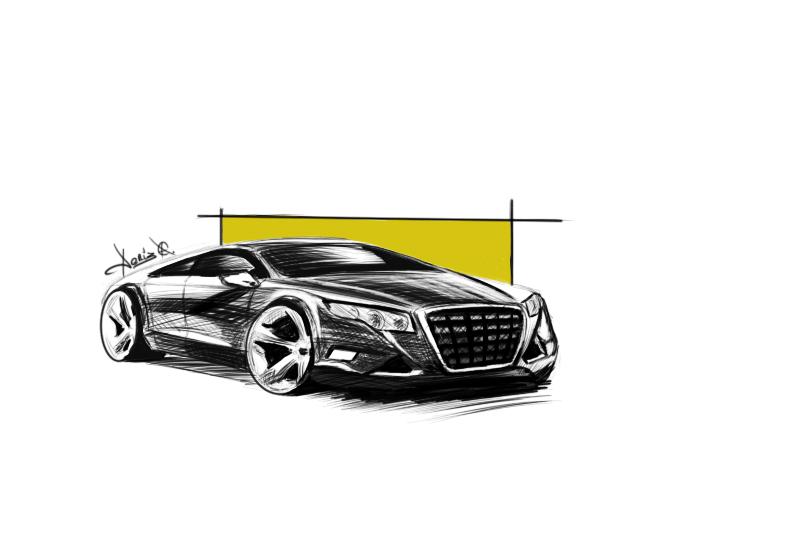 Fast car sketch by denizatasoy on DeviantArt