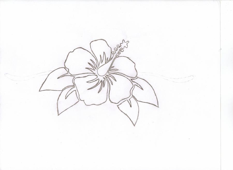 Hawaiian flower by swaggirl11 on deviantart for Hibiscus flower tattoo sketches