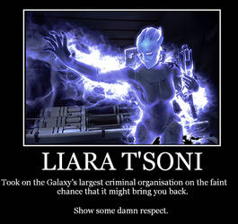 Liara Motivational Poster 2 by Revan117