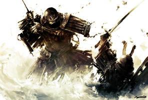 Two Samurai by Ravenseleven