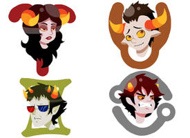 Homestuck Troll Stickers 1/3 by BrookiexMonster