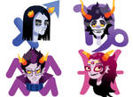 Homestuck Troll Stickers 3/3