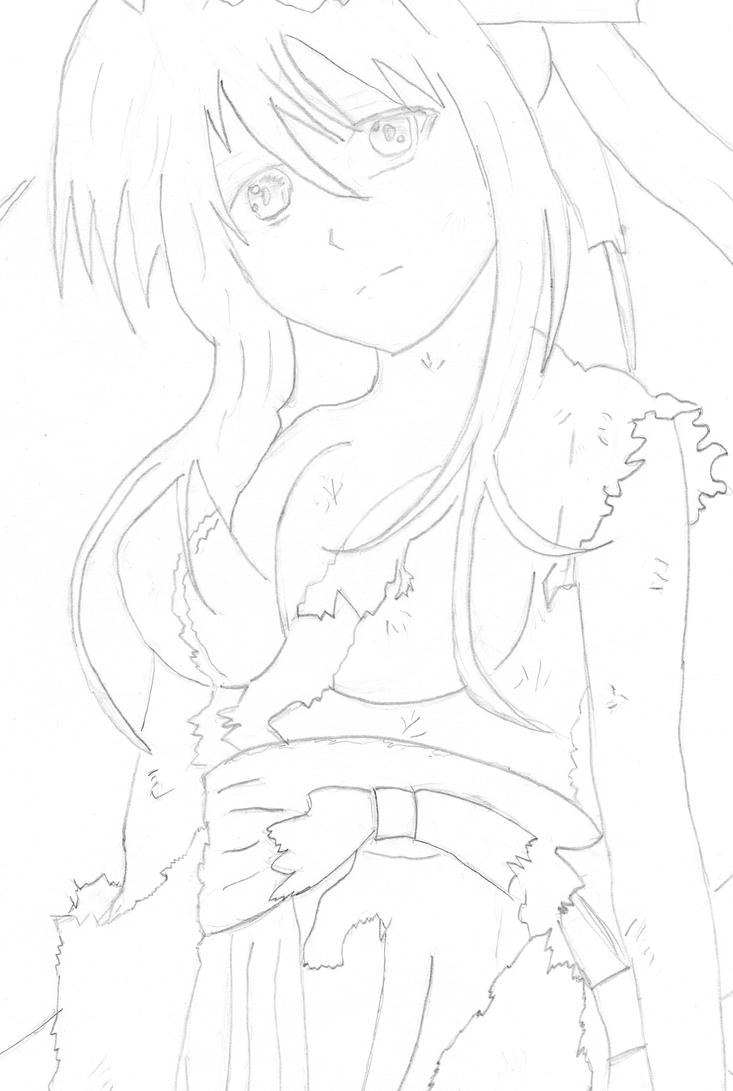 High School Dxd Coloring Pages Sketch Page Sketch Coloring Page