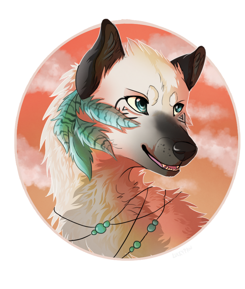Amaris headshot/badge commission by LuckyPaw