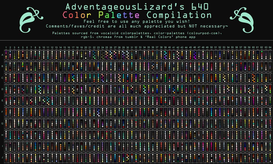 AdventageousLizard's 640 Color Palette Compilation by AdventageousLizards