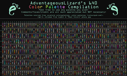 AdventageousLizard's 640 Color Palette Compilation