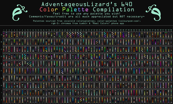 AdventageousLizard's 640 Color Palette Compilation