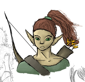 Elf Archer by Violetb14567