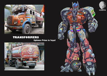 Optimus Prime in Nepal by hosanna9