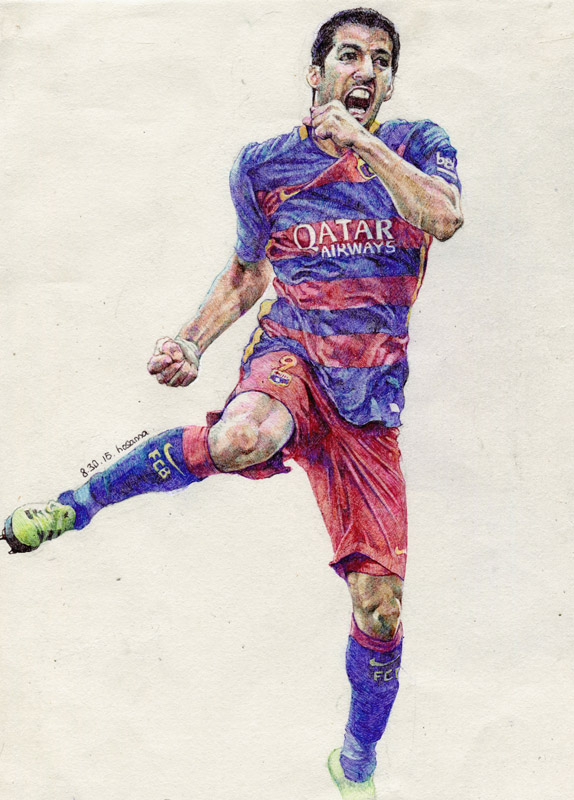 Ball pen series_Luis Suarez by hosanna9