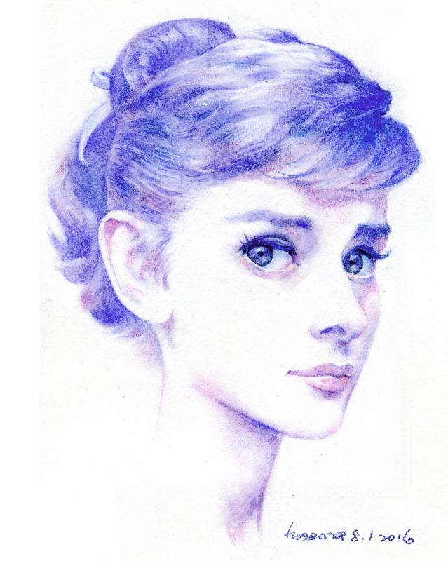 Audrey Hepburn by hosanna9