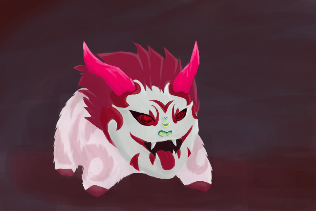 Bloodmoon Poro by LemonJumJum