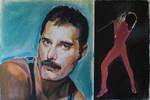 Freddie Mercury in Pastels