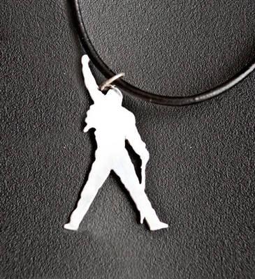 Freddie Mercury Sterling Silver Pendant