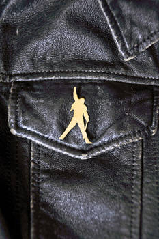 Brass Freddie Mercury Brooch