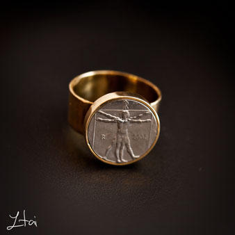 My Vitruvian man Brass ring.