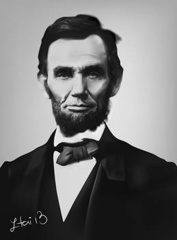 A portrait of Abraham Lincoln, 2013