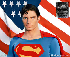 Christopher Reeve Superman by Itai Lustgarten
