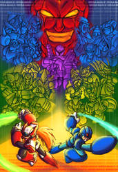 Megaman X Group Shot Poster