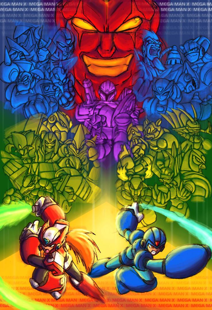Megaman X Group Shot Poster by XCBDH
