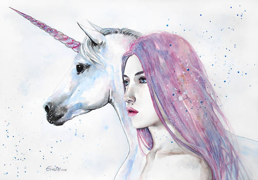 The unicorn and the girl