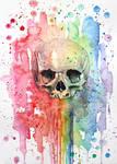 Rainbow skull by ericadalmaso