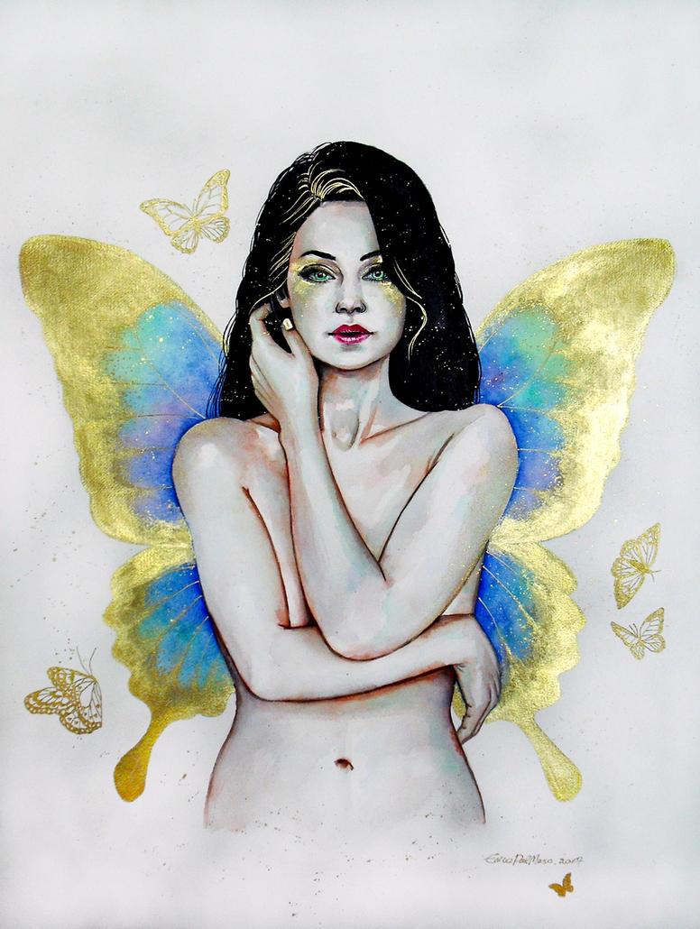 Golden butterfly by ericadalmaso