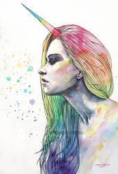 Unicorn girl by ericadalmaso