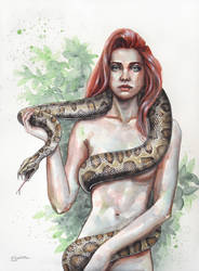 Eve And The Snake by ericadalmaso