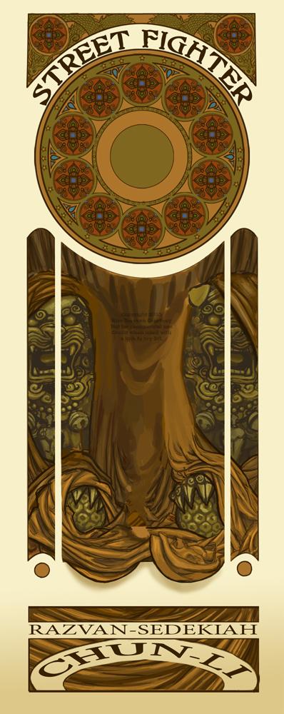blankArt Nouveau Chun Li by Razvan-Sedekiah