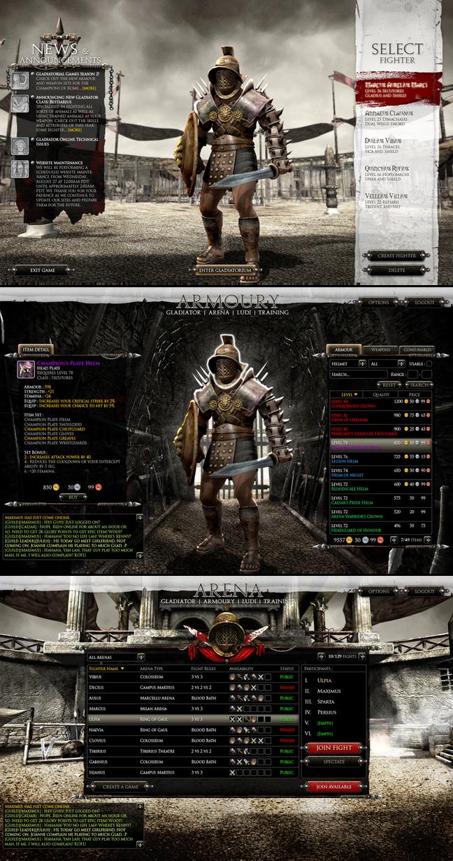 PC Game UI - Gladiator by Cashong
