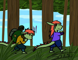 Camping trip (art by stealthl01)