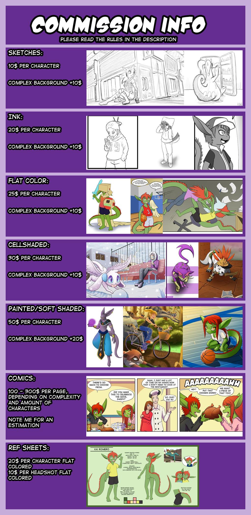 Commission sheet by TheNekoboi