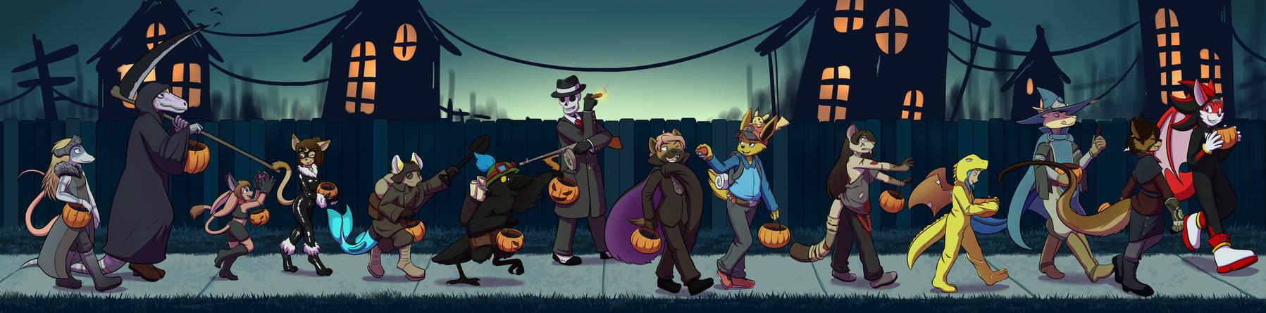 [Commission] Halloween walk