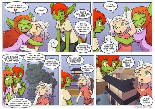 Twin Dragons page 248: Komainu