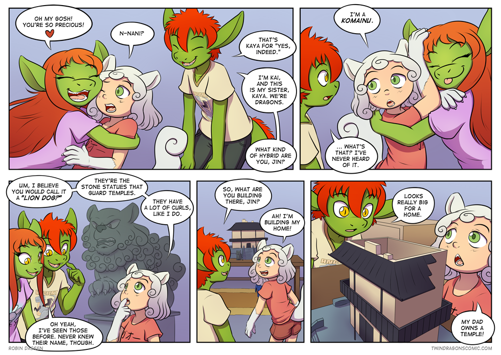 Twin Dragons page 248: Komainu