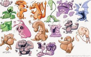 Pokemon Green - Sprite Redraw Compilation by pettamapossum