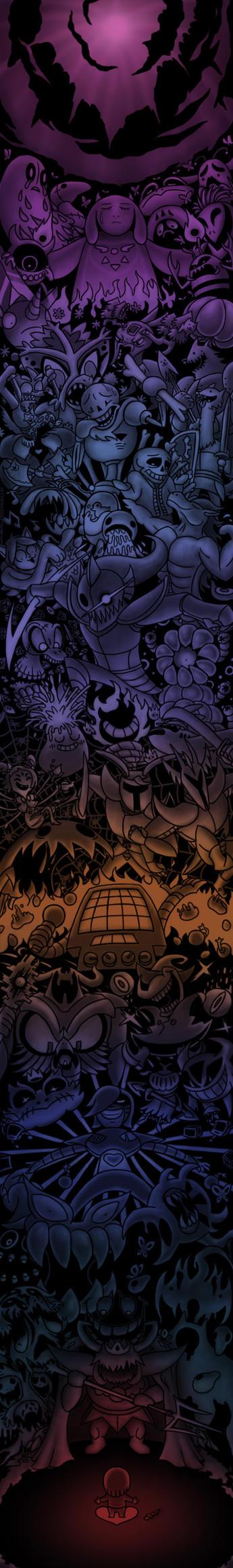 Daily #1000 - Undertale by pettamapossum