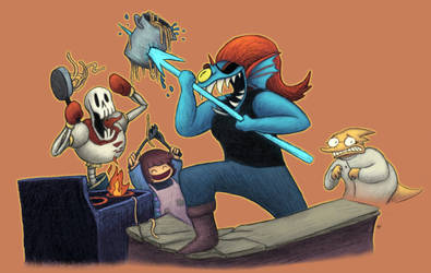 Daily #2021 - Cooking With Undyne