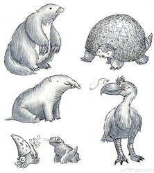Probably-Inaccurately-Drawn Extinct Animals pt 3
